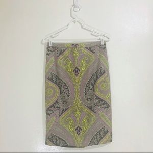 J.Crew Long No.2 pencil Skirt in Sovereign Paisley